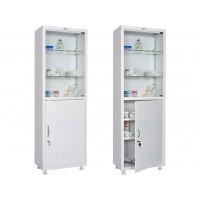 Одностворчатый медицинский шкаф HILFE МД 1 1760/SG
