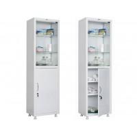 Одностворчатый медицинский шкаф HILFE МД 1 1657/SG