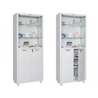 Двухстворчатый медицинский шкаф HILFE МД 2 1670/SG